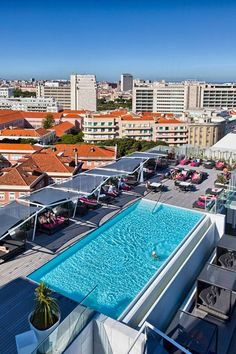 Head to the best rooftop bars in Lisbon, from Park for views of the Bairro Alto district and beyond to Sunset Parties at Hotel Mundial in Baixa Pombalina Rooftop Design, Rooftop Lounge, Rooftop Pool, Rooftop Decor, Rooftop Garden, Places In Portugal, Spain And Portugal, Portugal Travel, Portugal Trip