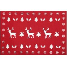 M&Co Reindeer Felt Placemat (5.01 CAD) ❤ liked on Polyvore featuring home, kitchen & dining, table linens, red, red table mats, red place mats, felt placemats, red felt placemats and red placemats