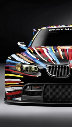 This is a BMW art car that they raced at Le Mans, I really like the art :) Le Mans, Bmw E9, Singer Porsche, Sport Cars, Race Cars, Automobile, Moto Cross, Ferrari, Rolls Royce