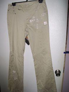 13 Junior Poca Jeans Beige Stretch Flare Decorated Jeans W28-34 L32 #PocaJeans #CasualPants