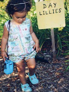 Vintage Toddler Crop Top - Kind Words