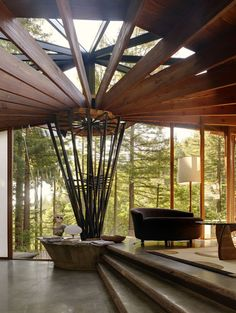 Living room incorporating indoors and outdoors | Vivian Dwyer, DWYER DESIGN | San Francisco
