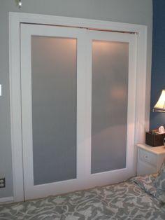 Closet doors for the master bedroom
