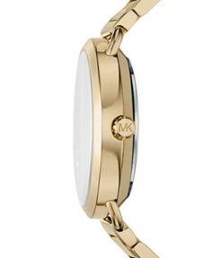 Michael Kors Women's Portia Gold-Tone Stainless Steel Bracelet Watch 37mm - Gold