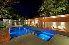 Magnificent Swimming Pool Designs : Swimming Pool Design For Small Houses. Home with Swimming Pool swimming pool designs Swimming Pool Ideas Beautiful Pool Designs Modern Style Home Design Backyard Pool Designs, Small Backyard Landscaping, Swimming Pool Designs, Swimming Pool Lights, My Pool, Moderne Pools, Beautiful Pools, Cool Pools, Pool Houses