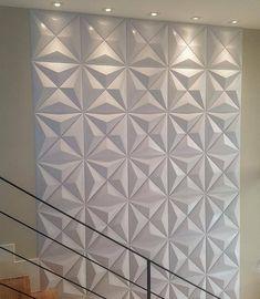 Wall Panel Design, Wall Decor Design, 3d Wall Panels, Living Room Designs, Living Room Decor, Tv Unit Furniture Design, Loft Design, House Design, Estilo Interior