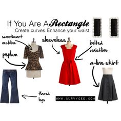"""""""Rectangle Style Guide by CurvyCEO.com"""" by curvyceo on Polyvore"""