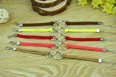 Fashion cuff braceletsilvery alloy infinityleather by Richardwu, $1.99