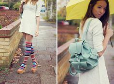 Striped long socks