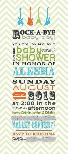 Rock-A-Bye Baby Shower: Invitation