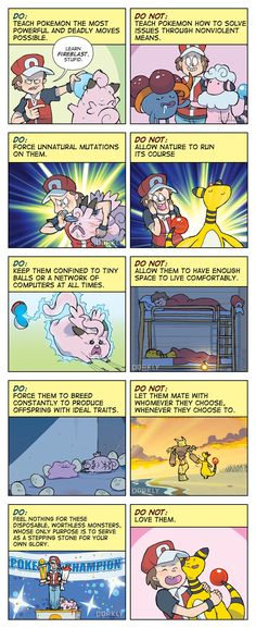 """The Do's and Do Not's of Pokemon Ownership"" #dorkly #geek #pokemon"