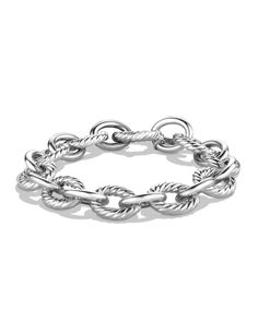 $395.00 David Yurman Sterling Silver Large Link Bracelet