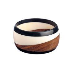 K. Amato Swirl Wood Bangle ($45) ❤ liked on Polyvore