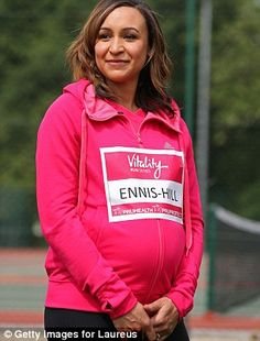 British track and field athlete Jessica Ennis-Hill poses during the Vitality Series launch...