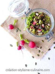 Salade sans gluten printanière