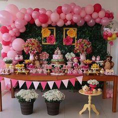first birthday favors First Birthday Favors, 2nd Birthday Party For Girl, First Birthday Shirts, Bear Birthday, Happy Birthday Maria, Marsha And The Bear, Party Corner, Bear Party, Birthday Decorations
