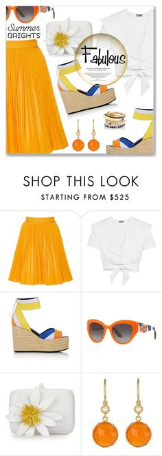 """""""Summer Brights"""" by dressedbyrose ❤ liked on Polyvore featuring MSGM, Temperley London, Pierre Hardy, Dolce&Gabbana, Nancy Gonzalez, Irene Neuwirth, SPINELLI KILCOLLIN and summerbrights"""