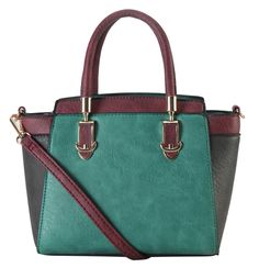 """Diophy PU Leather Two Tone Mini Top Handle Tote Womens Purse Handbag Accented with Removable Strap SE-3397. This handbag comes in 5 different colors: Yellow, Blue, Black, Coffee, and Green. High Quality PU Leather Two Tone Mini Top Handle Tote Womens Purse Handbag Accented with Removable Strap. High Quality Fabric Lined Interior with Multiple Interior Pockets. 1 Main Compartment with 1 Zippered Pocket and 1 Open Pocket Inside. Approximate Size info: Length 8.2"""" x Width 4.4"""" x Height 7.2""""..."""
