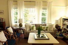 Tende per il soggiorno - Tende bianche per il soggiorno