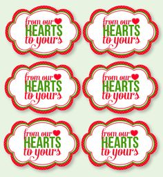 Christmas PRINTABLE Party Neighbor Gift Tags from by lovetheday, $5.00