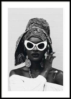White Sunglasses Poster in the group Posters & Prints / Fashion at Desenio AB