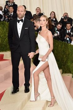 Jason Statham + Rosie Huntington Whiteley #MetGala in Ralph Lauren