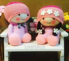 Lover Chocky Pink Handmade Socks Cotton Essential oil Men&Women Lover Couple Dolls Toy