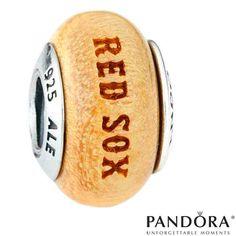 Boston Red Sox MLB Logo Wood Charm by PANDORA® Jewelry - MLB.com Shop