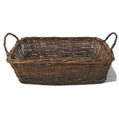 Red Willow Rectangular Tray Basket with Handles - Large 21in