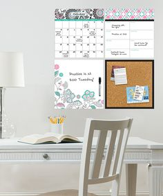 Want this for my home office! Floral Medley Organizer Wall Decal Set #homeoffice #organizer #homedecor