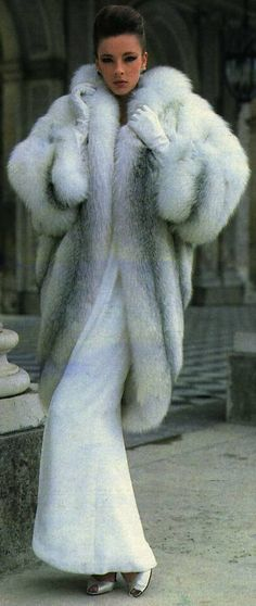 Billionaire's Closet- Shadow Fox Fur Coat- #LadyLuxuryDesigns