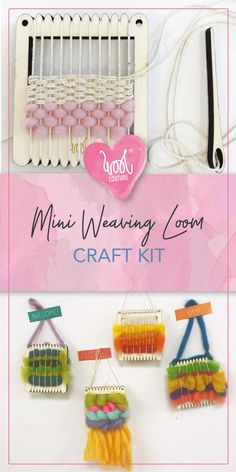 We love our Mini Weaving Loom when we are out and about and want to creative a little awesome. Craft Kits, Diy Kits, Circular Loom, Loom Weaving, Yarn Needle, Weave, Etsy Shop, Pure Products, Wool