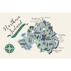 Ulster Weavers Cotton Tea Towel - The Land of Golf (100% Cotton, Green)