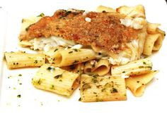 Baked Flounder in Wine Butter over Rigatoni ...