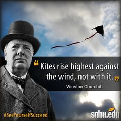 """Kites rise highest against the wind, not with it. Great Quotes, Me Quotes, Inspirational Quotes, Motivational, Churchill Quotes, Winston Churchill, Overcoming Adversity, Words Worth, Interesting Quotes"
