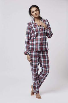 Check Pyjama Set - Topshop