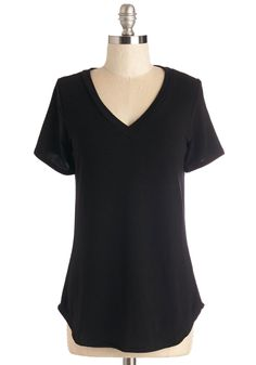 Ace of Basic Top. Play your layering cards just right in this versatile black tee. #black #modcloth