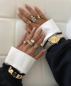 nail with rhinestones bling * nail with rhinestones & nail with rhinestones simple & nail with rhinestones diamonds & nail with rhinestones coffin & nail with rhinestones bling Cute Jewelry, Gold Jewelry, Jewlery, Jewelry Accessories, Fashion Accessories, Fashion Jewelry, Fashion Fashion, Fashion Clothes, Retro Fashion