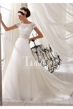 high neck low back vintage inspired see through lace wedding dresses with sleeves 2014 WD131186