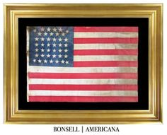 42 Star Antique Flag with Beehive Pattern