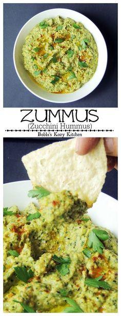 Zummus (Zucchini Hummus) - Taking hummus to the next level with garden fresh grilled zucchini from http://www.bobbiskozykitchen.com