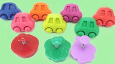 Learn Colors Play Doh Cars Ice Cream Peach Chili Peppers Milk Bottle Nur...