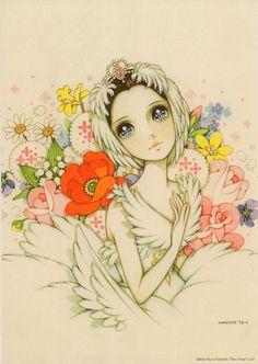 Odette the Swan Princess of Swan Lake in Anime style Manga Drawing, Manga Art, Anime Art, Japanese Cartoon, Japanese Art, Macoto Takahashi Art, Cute Paintings, Fairytale Art, Comic Movies