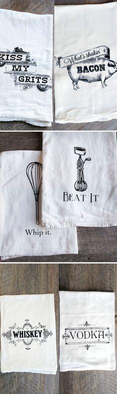 Tea Towel X 6 Ideal Cafe Etc Bright Coloured Kitchen Hand Towel