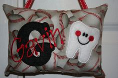 Personalized Tooth Fairy Pillow for Boys