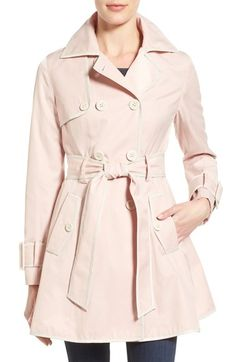 Betsey Johnson Piped Double Breasted Trench Coat available at #Nordstrom