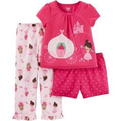 58d654d33cd Child of Mine by Carter s Baby Toddler Girl 3 Piece Pajama Set