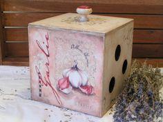Купить Этот замечательный чеснок! Короб для хранения - комбинированный, короб для чеснока, для хранения