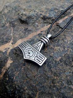 Anhänger Kette Wikinger Mittelalter hexe Silber thor Schmuck