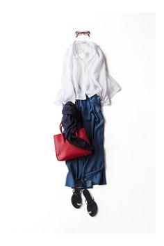 トリコロール配色をリラックスなシルエットで着る